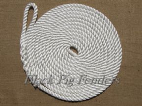 10 metre 16mm White Mooring Line